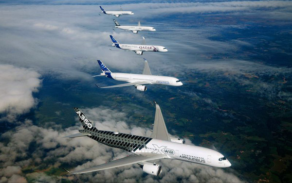 Airbus A350 XWB formation flight