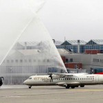 Water cannon salut for Etihad Regional
