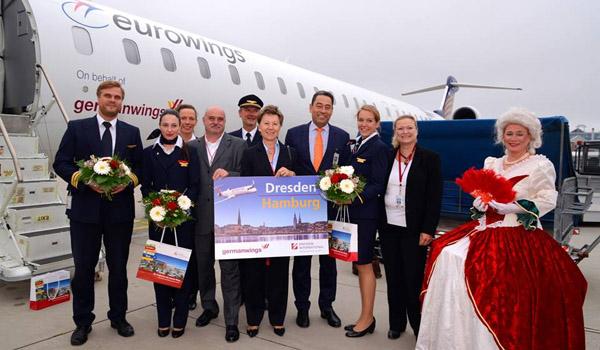 Germanwings flies now between Hamburg and Dresden