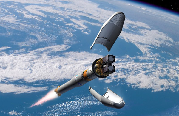 Galileo satellite In-Orbit Validation fairing ejection