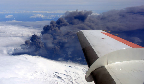 Ash cloud from Eyjafjallajökull in 2010