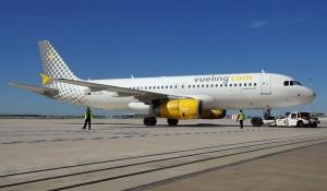 Vueling Airbus A320 at Barcelona El Prat Airport