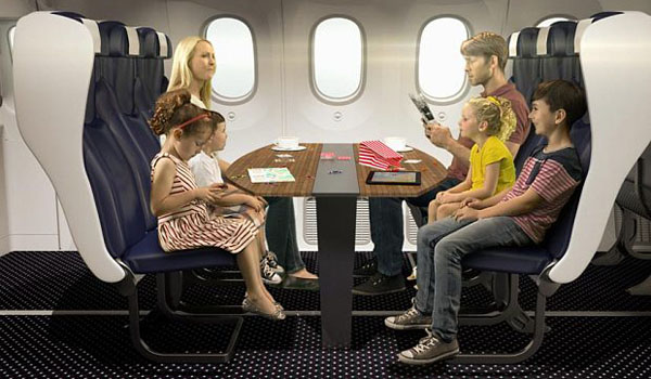 Family booths are being considered for Thomson Airways new aircraft