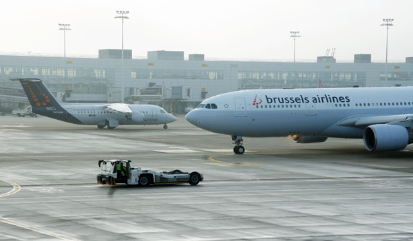 Brussels Airlines on the apron at Brussels
