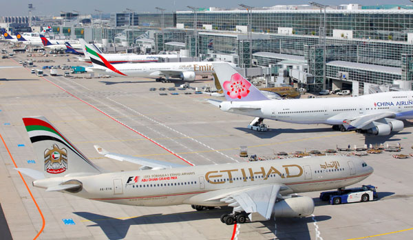 Etihad being pushed back at Frankfurt