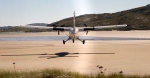 Barra Airport approach
