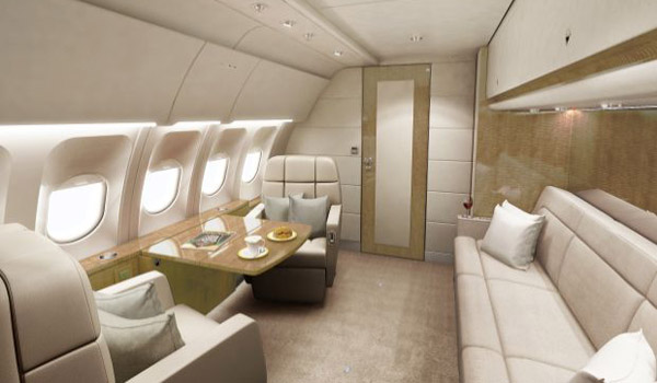 """New """"Executive Shuttle"""" VIP interior concept for Airbus and Boeing narrow bodies"""