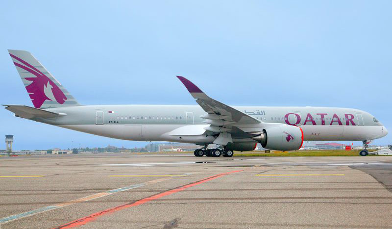 First A350 XWB to be delivered to first customer Qatar Airways rolls out of Airbus factories (Toulouse), gearing up to delivery by year end.