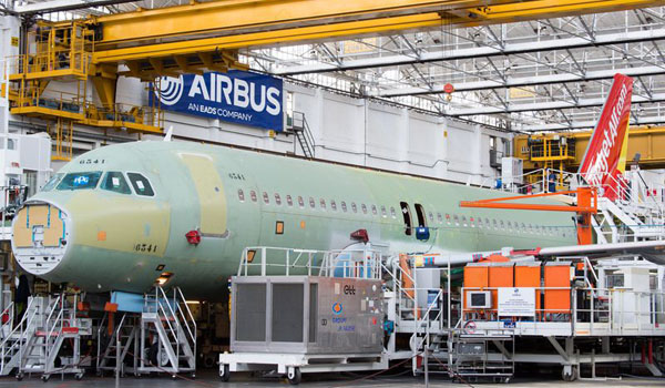 First A320 for VietJetAir at Final Assembly Line at Toulouse
