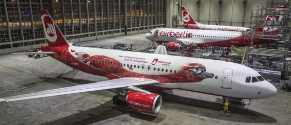 Air Berlin Airbus A320 D-ABFO with Milo image (© Air Berlin)