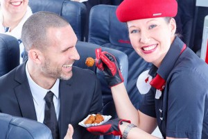 Air Berlin serves Currywurst during ITB on all domestic flights (© airberlin)