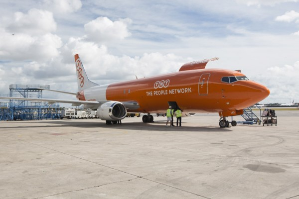 Boeing 737-400(F) of TNT Airways (© TNT)