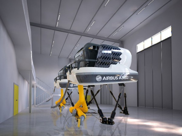 When fully operational, the Airbus Asia Training Centre (AATC) in Singapore will feature eight full flight simulators – including four A350 XWBs, one A380, one A330 and two A320s (© Airbus)