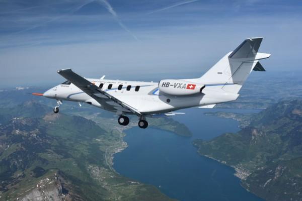 Pilatus PC-24 on its maiden flight (© Pilatus)