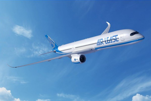 Airbus A350-900 in the livery of Air Lease Corp. (© Airbus)