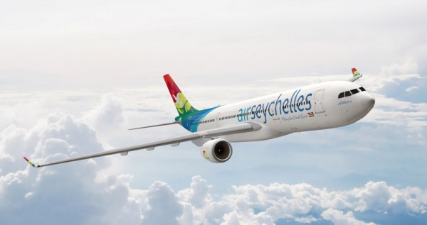 Airbus A330 in the livery of Air Seychelles