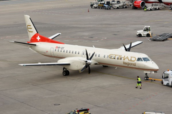 Saab 2000 of Darwin Airline in Etihad Regional livery (© O. Pritzkow)