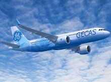 Airbus A320neo in the livery of GECAS (© Airbus)
