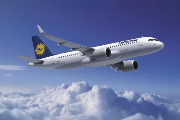 Airbus A320neo in den Farben der Lufthansa (© Airbus)