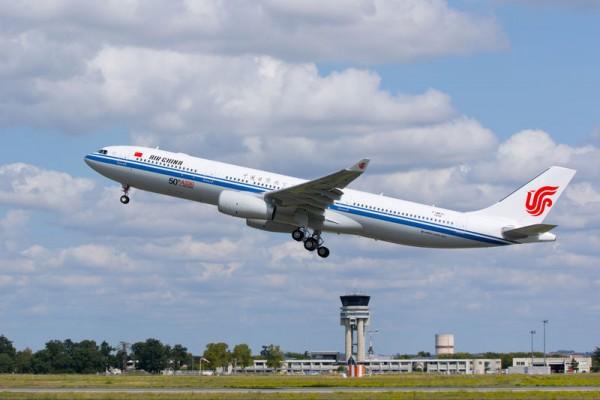 Air China Airbus A330-300 mit 242 Tonnen Startgewicht (© Airbus)