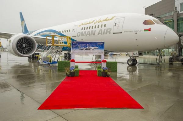 Auslieferung der ersten Boeing 787 an Oman Air am 11. Oktober 2015 (© Boeing)