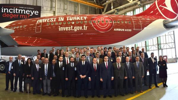 Feierliche Enthüllung der neuen Turkish-Lackierung 'Invest in Turkey' (© THY)