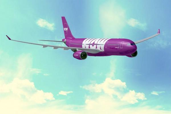 Airbus A330 in den Farben der WOW air (© WOW air)