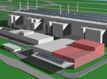 Künftiges Logistiklager am Flughafen München (© LH Technik)