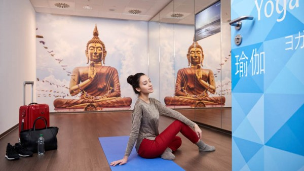 Kostenfreier Yoga-Raum im Flughafen Frankfurt (© FRA)