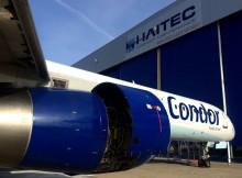 Boeing 757-300 der Condor vor dem HAITEC Hangar