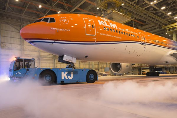 Boeing 777-300ER in Nationalfarben (© KLM)