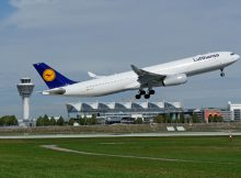 Start eines Airbus A330-300 der Lufthansa vom Flughafen München (© FMG)