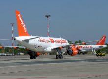 Flugzeuge der Easyjet am Flughafen Berlin-Schönefeld (© O. Pritzkow)