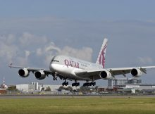 Airbus A380 der Qatar Airways in London-Heathrow (© Qatar Airways)