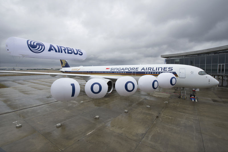 Jubiläumsflieger für Singapore Airlines (© Airbus)