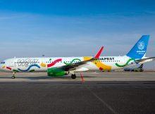 Wizz Air Airbus A321 HA-LXJ im Olympia-Gewand (© Wizz Air)