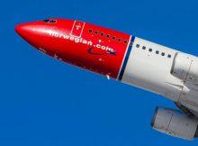 Startende Boeing 737-800 (© Norwegian)