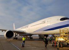 Airbus A350 der China Airlines (© Flughafen Wien)