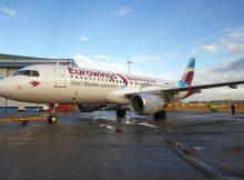 Airbus A320 der Eurowings bewirbt das Boomerang-Vielfliegerprogramm (© Eurowings)