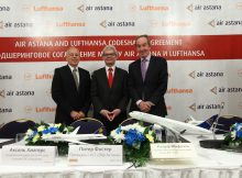 Codeshare Agreement Air Astana und Lufthansa