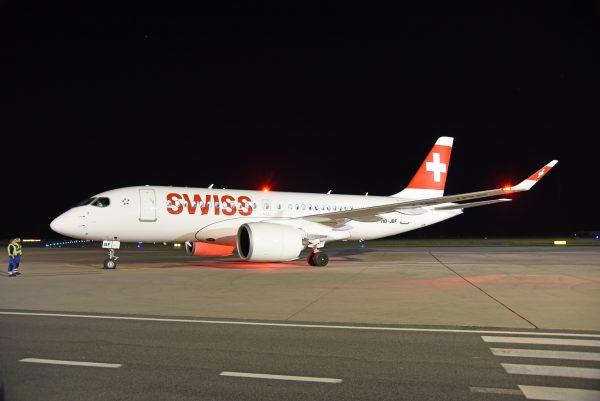 Flughafen Graz: Die neue Bombardier CS 100 © A. Witek