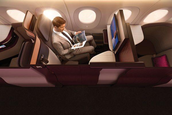 QSuite in der Business Class (© Qatar Airways)
