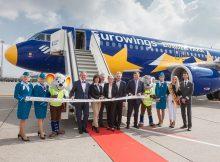Start der Zusammenarbeit zwischen Eurowings und dem Europa-Park Rust (© EW)