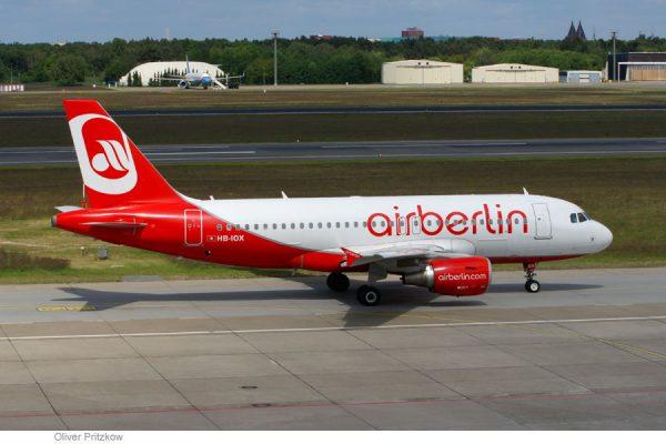 Airbus A319 der Belair im Air-Berlin-Look (© O. Pritzkow)