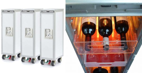 Airline-Trolleys z. B. als Mini-Bar (© Wingdesign)