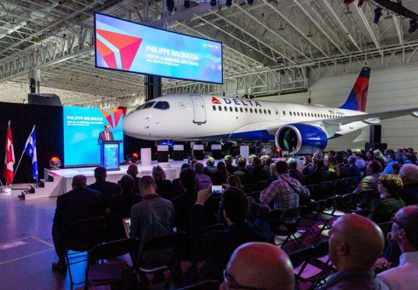 Auslieferung des ersten A220-100 an Delta Air Lines (© Airbus)