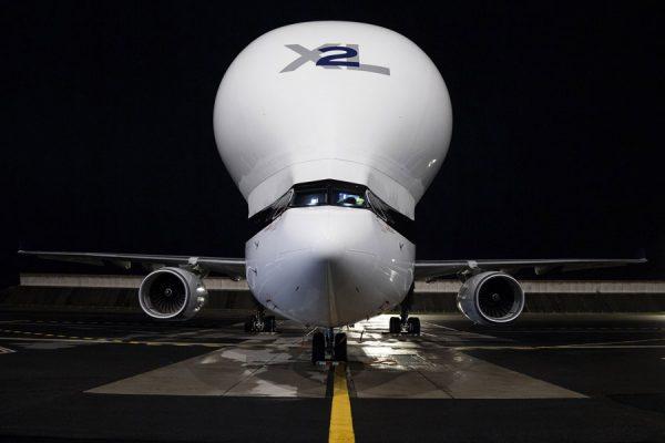 Beluga XL in der Frontansicht (Foto: Airbus)